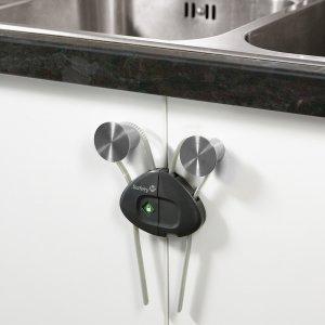 Safety 1st Устройство за заключване на шкаф с шнур 1 бр.оп.  сив цвят